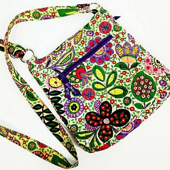 Vera Bradley Handbags - Vera Bradley Boho Quilted Floral Crossbody Purse